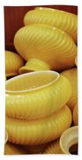 Yellow Lampshades Bath Towel