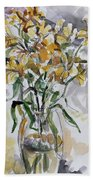 Yellow Lillies Bath Towel
