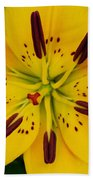 Yellow Lily Bath Towel