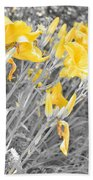 Yellow Moment In Time Bath Towel