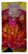 Yellow Phalaenopsis Centerpiece - Orchid And Raindrops 003 Bath Towel