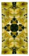 Yellow Primrose Kaleidoscope Bath Towel