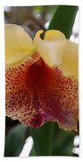 Yellow Red Orchid Bath Towel