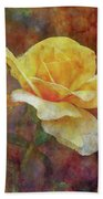 Yellow Rose With Raindrops 3590 Idp_2 Bath Towel