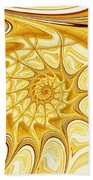 Yellow Shell Bath Towel