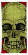 Yellow Skull Bath Towel
