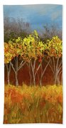 Yellow Stand Of Trees Bath Towel