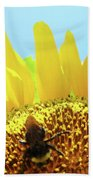 Yellow Sunflower Art Prints Bumble Bee Baslee Troutman Bath Towel