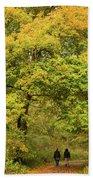 Yellow Trees In Fall Bath Towel