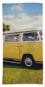 Yellow Vw T2 Camper Van 02 Bath Sheet