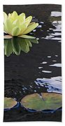 Yellow Water Lily Bath Towel