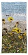 Yellow Wildflowers- Art By Linda Woods Bath Towel