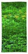 Yellow Wildflowers Bath Towel