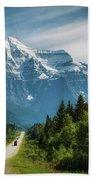 Yellowhead Highway In Mt. Robson Provincial Park, Canada Bath Towel