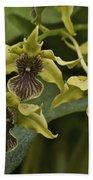 Yellowish Orchids Bath Towel