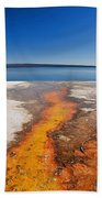 Yellowstone Lake And West Thumb Geyser Flow Bath Towel