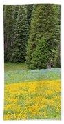 Yellowstone Meadow Bath Towel