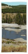Yellowstone Mineral Ponds Bath Towel