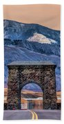 Yellowstone National Park North Entrance Bath Towel by Christopher Arndt