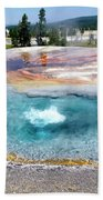 Yellowstone Park Firehole Spring In August 02 Bath Towel