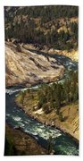 Yellowstone River Canyon Bath Towel