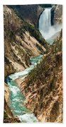 Yellowstone Waterfalls Bath Towel