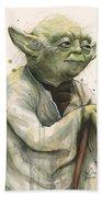 Yoda Portrait Bath Towel