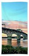 York River Bridge Bath Towel by Harry Warrick