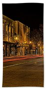 York South Carolina Downtown During Christmas Bath Towel