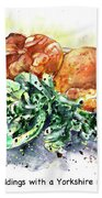 Yorkshire Puddings With Yorkshire Salad Garnish Hand Towel