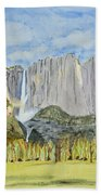 Yosemite Falls Bath Towel