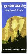 Yosemite Poster Bath Towel