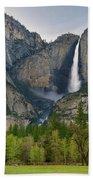Yosemite Upper And Lower Falls Bath Towel