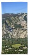 Yosemite Valley Panorama From Union And Glacier Points Bath Towel