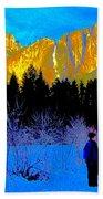 Yosemite Valley Winter Walk Hand Towel