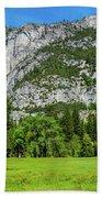 Yosemite West Valley Meadow Panorama #2 Bath Towel