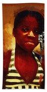 Young Black Female Teen 1 Bath Towel