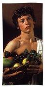 young boy Caravaggio Bath Towel