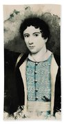 Young Faces From The Past Series By Adam Asar, No 71 Bath Towel