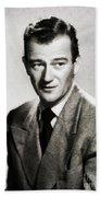 Young John Wayne, Hollywood Legend Bath Towel