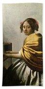 Young Woman At A Virginal Bath Towel
