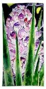 Yucca Flower Plant Southwestern Art Bath Towel