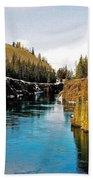 Yukon River And Miles Canyon - Whitehorse Bath Towel