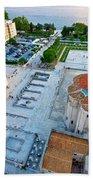 Zadar Forum Square Ancient Architecture Aerial View Bath Towel