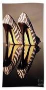 Zebra Print Stiletto Bath Towel