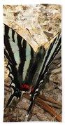 Zebra Swallowtail Bath Towel