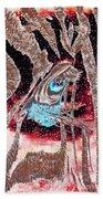 Zebras Eye - Abstract Art Bath Towel