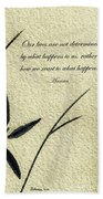 Zen Sumi 4b Antique Motivational Flower Ink On Watercolor Paper By Ricardos Hand Towel by Ricardos Creations