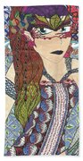 Zentangle Queen  Bath Towel