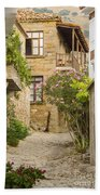 Zeytinli Village Cobblestone Lane Bath Towel